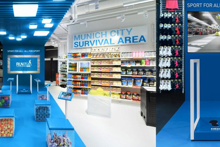 Decathlon Display Shop Installationen